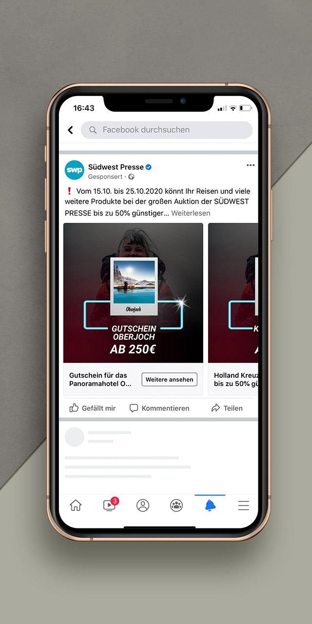 Auktionsportal-Instagram  Werbung in Ulm-Referenz