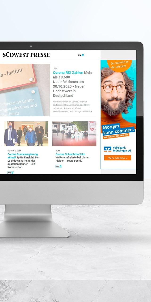 optimale Ergänzung zu  bestehenden  Marketingaktivitäten  mit Display Werbung