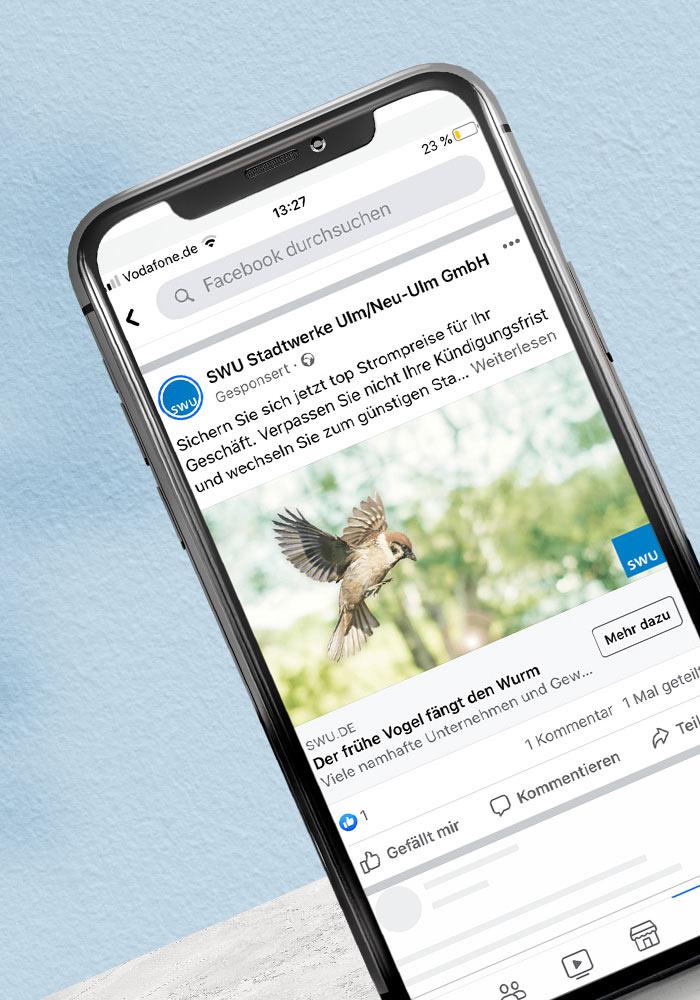 Facebook Werbung -Kundenprojekt SWU -Referenz