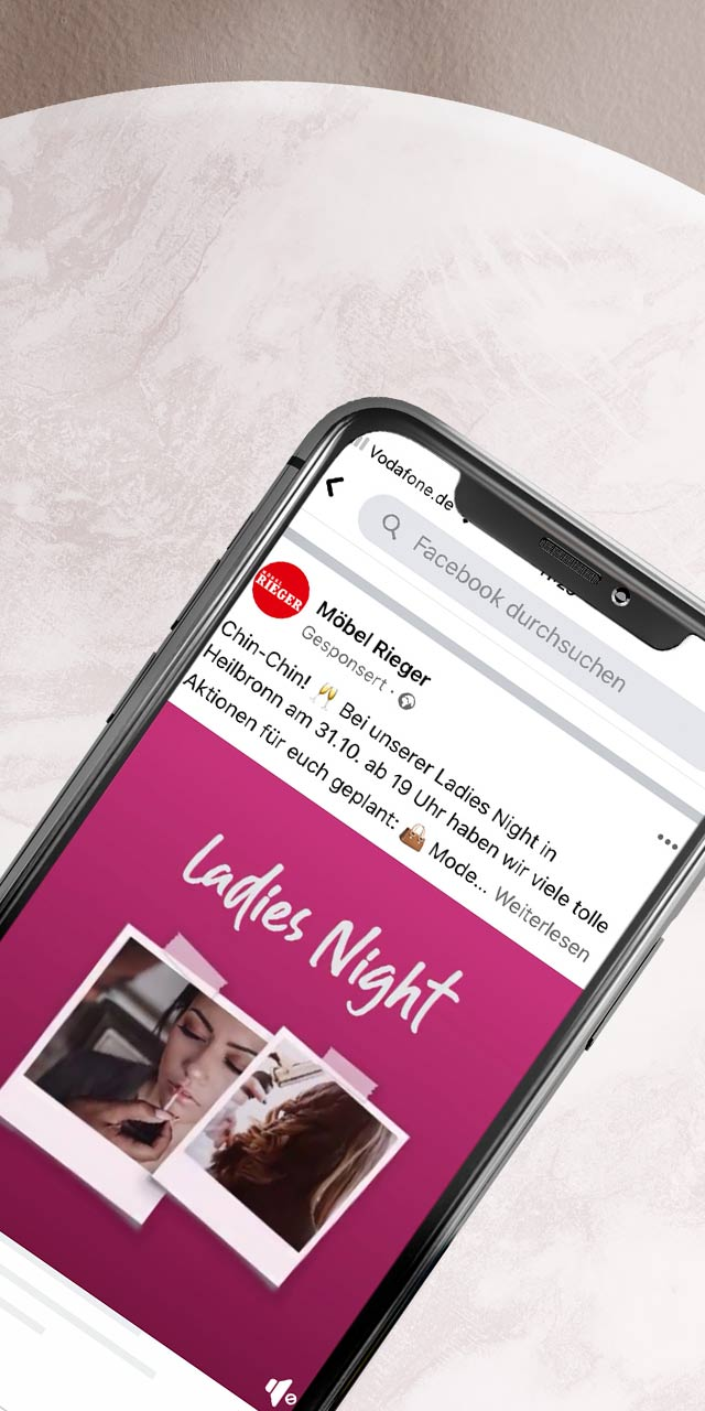 Facebook Werbung Ulm - Referenz Möbel Rieger