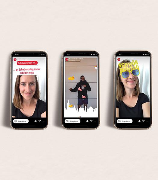 individuelle Instagram Filter  entwickelt von NPG digital