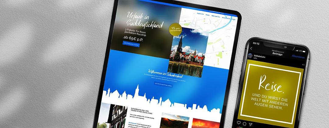 B&B-Landingpage und Kampagnenkonzeption - Projekte der NPG digital  - unsere Referenzen