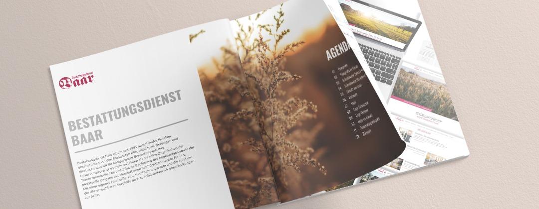 Bestattungsdienst Baar-Corporate Design- Projekte der NPG digital - unsere Referenzen