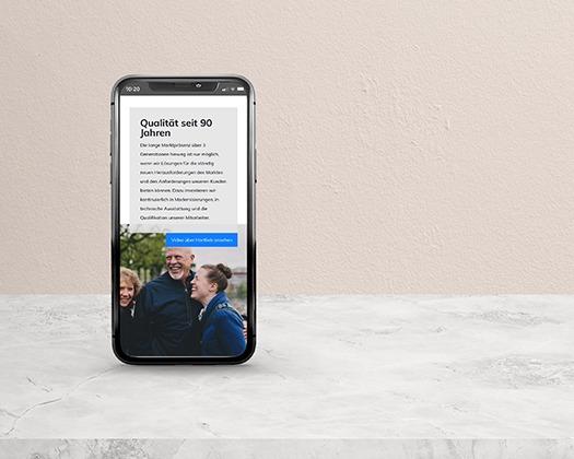 Hartlieb-Webdesign- mobile Version -Projekte der NPG digital  - unsere Referenzen