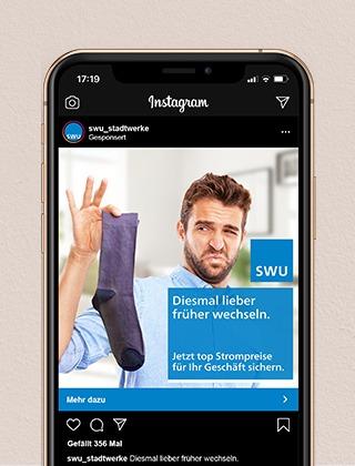 SWU-Kampagnenkonzeption-Instagram Werbung-  Projekte der NPG digital  - unsere Referenzen