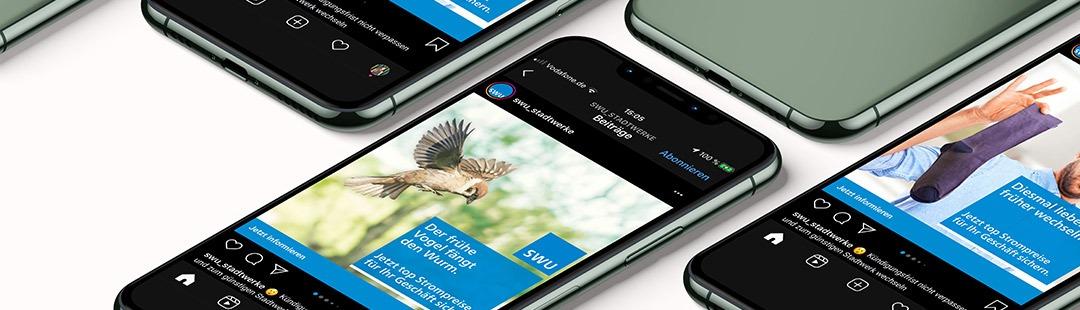Ansprechende Bilder und Videos finden - Instagram Werbung -Kundenprojekt SWU