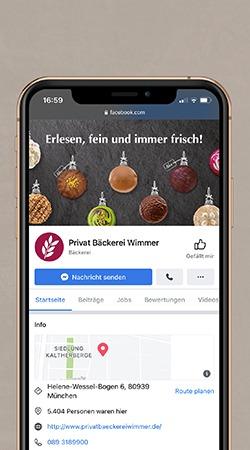 Facebook Unternehmenswebsite Beispiel Mockup