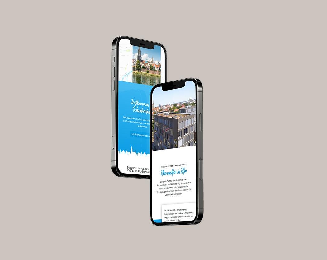 B&B Hotel-Kundenprojekt- Webdesign in Ulm