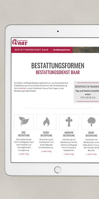 Entwicklung des Corporate Designs für Bestattungsdienst Baar in Ulm Mockup