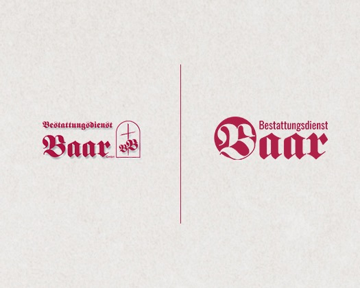 Logo Redesign Bestattungstdienst Baar in Ulm