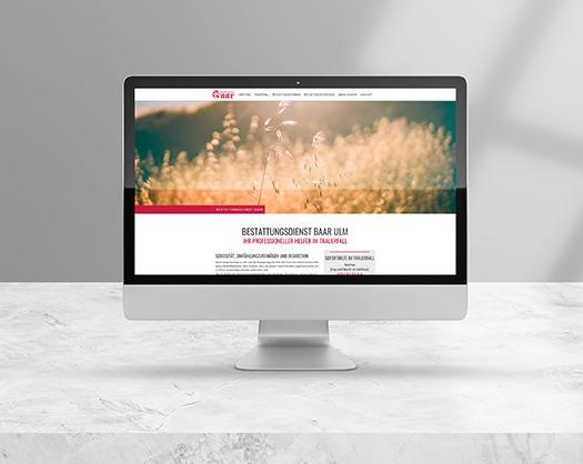 Website Mockup Bestattungsdienst Baar in Ulm