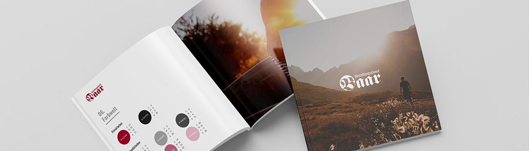 Brandbook Corporate Design Entwicklung für Bestattungsdienst Baar in Ulm