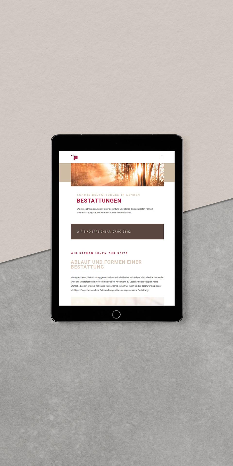 Webdesign für Smartphones  und Tablets in Ulm