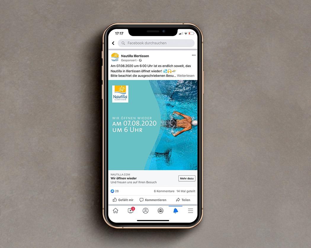 Facebook Marketing bei NPG digital-Kundenkampagne