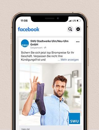 SWU-Kampagnenkonzeption-Facebook Werbung - Projekte der NPG digital  - unsere Referenzen
