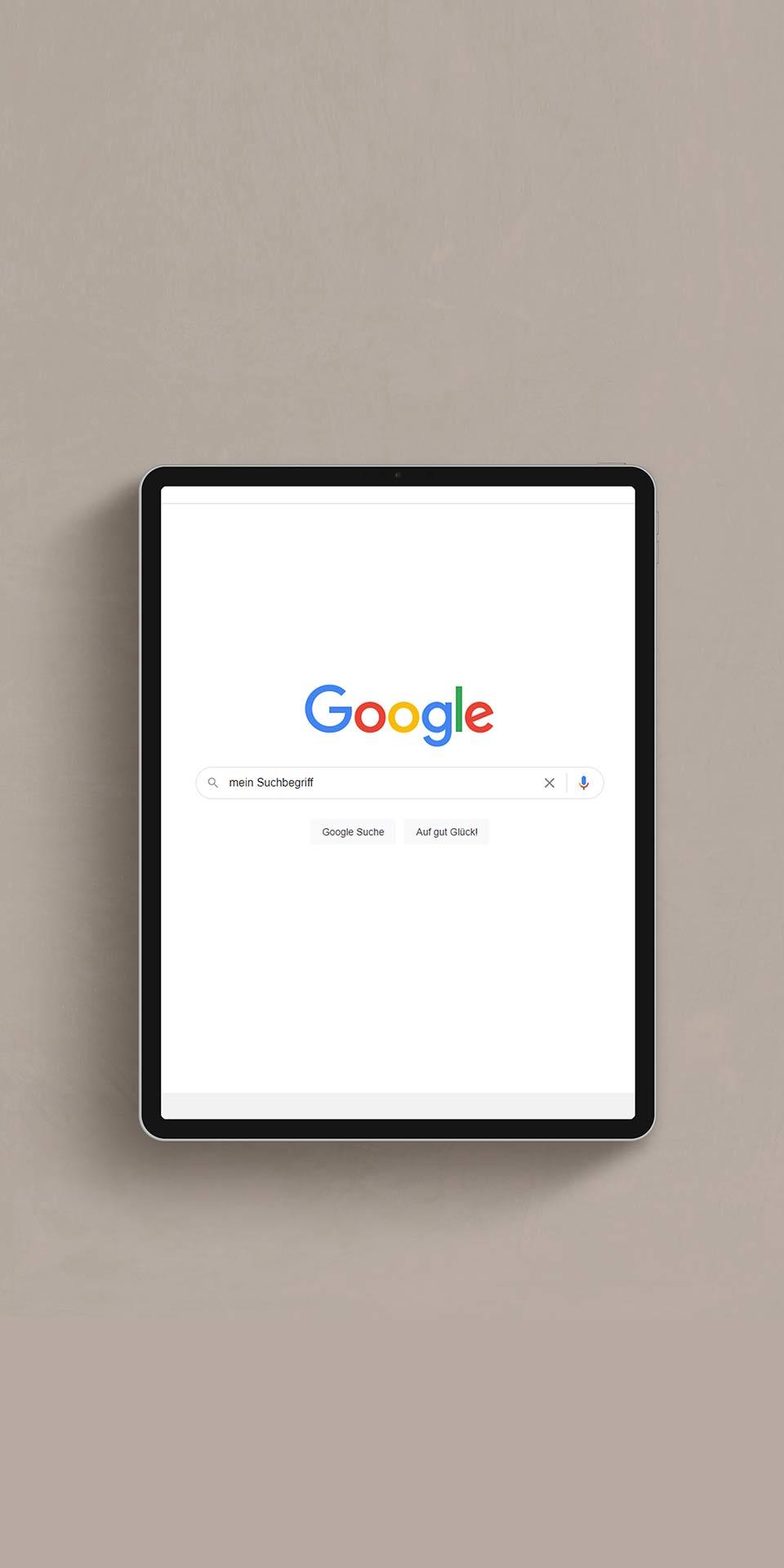 Google Suche Webseite optimieren